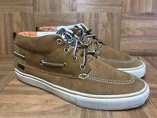 RARE🔥 VANS Vault LX Zapato Del Barco Brown Leather Gum Soles VNTG 2009 Sz 10.5