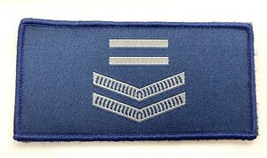 Rank Woven Patch #4, Blue, 100mm X 50mm, Police, NOT official NSW, Hook Rear