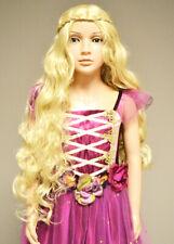 Childrens Rapunzel Princess Long Curly Blonde Wig