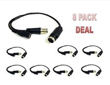 8 Pack CCTV Security Camera DIN to BNC Cable Converter Adapter DVR