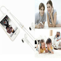 3.5mm AUX Audio Mic Splitter Cable Earphone Headphone Adapter 1Male To 2 FemaleQ