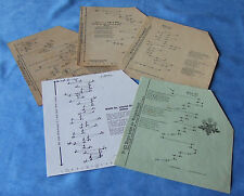 Zither Akkordzither - 10 alte Unterlegnoten für 5/21 - aus diversen Verlagen