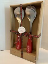 Rae Dunn By Magenta MERRY CHRISTMAS Red Serving Spoons Holiday Kitchenware Decor