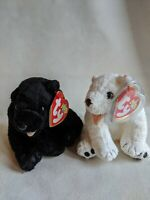 Rare Pair Beanie Baby Cinders and Aurora with Tag Errors
