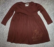 Matilda Jane Girls Vintage (Back To School - 2009) Fawn Lap Dress - Size 4 - EUC