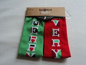 Very  Merry Hallmark Toe-of-a-kind Christmas socks adult humor
