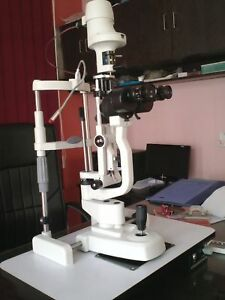 2 Step Slit Lamp Haag Streit Type With Accessories Free World Wide Shipping