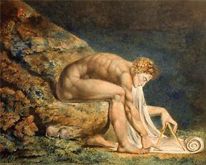 Newton - William Blake - Fine Art Giclee Print Poster (Various Sizes)