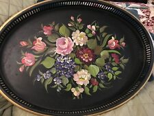 Tole Tray Hand Painted and Signed by La Verne