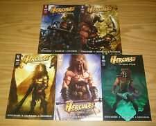 Hercules: the Knives of Kush #1-5 VF/NM complete series - radical A variants set