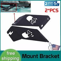 "2X Skull Hood Mounting Brackets 21""-22"" LED Work Light Bar for Jeep Wrangler JK"