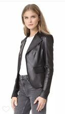 Theory Peplum Leather Jacket Black Small $995 2018 NWT S