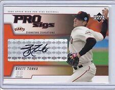 2005 Upper Deck Pro Sigs Autograph Brett Tomko