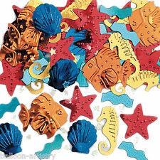 2 Bags Tropical Underwater Embossed Deep Sea Party Foil Confetti Table Sprinkles