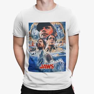 Jaws Group T-shirt - Movie poster 70s 80s shark movie film retro yolo gift tv
