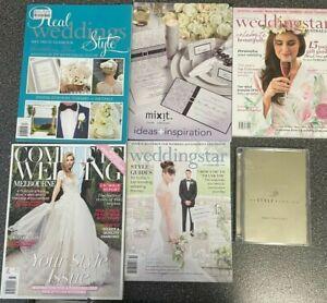 BULK WEDDING BRIDAL MAGAZINES books and CD planner planning bridal shower gifts