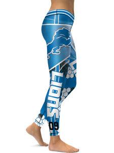 Detroit Lions Leggings Small-XXL (0-14) Football Fan Gift Game Gear Michigan