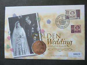 1997 Queens Golden Wedding Australia 50C Coin Cover