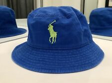 Polo Ralph Lauren Boy's Cotton Mesh Pony Bucket Hat Size 4-7 Royal Blue NEW $28