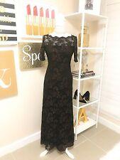 NWT Women's Basix II Formal Dress, Black & Copper Floral Lace, Size 4, MSRP $400