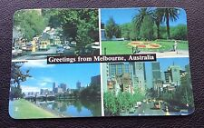 POSTCARD: GREETINGS FROM MELBOURNE: AUSTRALIA: POST DATE ON CARD IS 1982