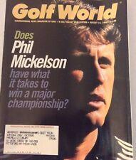 Golf World Magazine Phil Mickelson August 14, 1998 072917nonrh