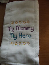 baby burp cloth with saying