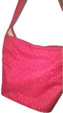 Ken Scott auth ladies women rare zipped pink canvas bag with Ken Scott monogram
