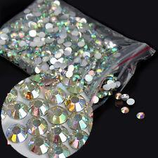 Lots 1000PCS 4mm Nail Art Flatback Crystal AB Faceted Round Rhinestone Beads