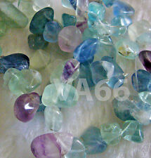 "DIY 15"" Purple Green Fluorite Briolette Gemstone FLAT Water Drop Gems Batu Asli"