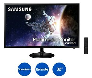 """Samsung 32"""" Curved 1920x1080 HDMI 60hz 4ms FHD LCD Monitor -Speakers Included"""