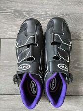 Northwave Road Cycling Shoes UK 4.5 EU 37 Black/Violet + cleats