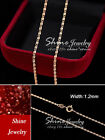 9K ROSE GOLD FILLED PATTERN CURB CHAIN for pendant SOLID NECKLACE KIDS GIRL GIFT