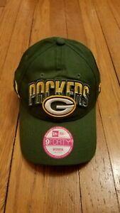 New Era Cap Green Bay Packers 940 Women's Adjustable Hat NEW