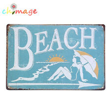 Beach VINTAGE plate Tin Sign Bar pub home Wall Decor Retro Metal ART Poster