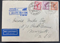 1931 Germany Bremen Catapult First Flight Airmail Cover To New York USA