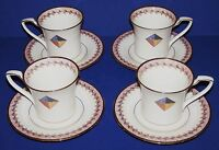 GORGEOUS NORITAKE FINE CHINA MOMENTUM SET OF 4 CUPS AND SAUCERS