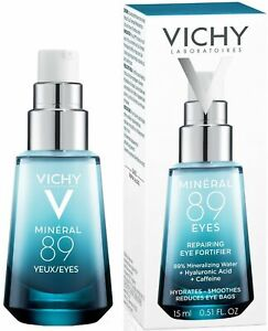 Vichy Mineral 89 Eyes Hyaluronic Acid Eye Booster Hydrates Smooths Brightens