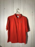 LACOSTE POLO SIZE 7 ORANGE MENS SHORT SLEEVE