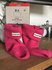 Hunter Niños Bota Calcetín Fucsia Textil Infantil Calcetines XS UK 4-6