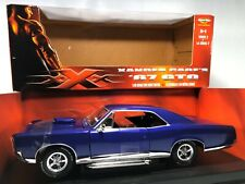 Vin Diesel Xxx Movie Car Ertl '67 Pontiac Gto Blueberry 1:18 Diecast Muscle Car