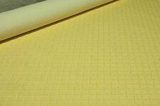 Scampoli di Tessuto Piazza Duomo pesante di colore giallo con motivo geometrico
