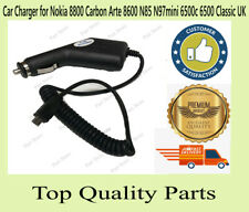 Car Charger for Nokia 8800 Carbon Arte 8600 N85 N97mini 6500c 6500 classic UK