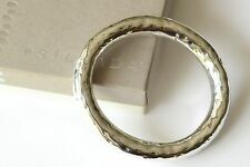 Silpada Thick Hammered Oval Sterling Silver Bangle Bracelet B1117