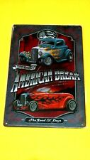 Garage Wall Decor Metal Tin Hot Rod car SIGN Plaque (The Great AMERICAN DREAM)