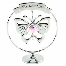 "Mothers Day Gift Ideas Presents Gifts ""For You Mum"" Butterfly Swarovski Crystal"