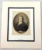 1922 Antico Stampa Goya Ritratto Dipinto Di Martin Zapater Aragonese Merchant
