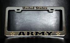"""UNITED STATES ARMY"" License Plate Frame, Custom Made of Chrome"
