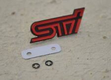 Grille Grill Badge Emblem suit for Subaru Impreza WRX STi (Red) Free Shipping