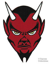RED DEVIL EMBROIDERED PATCH IRON-ON SATANIC EVIL LUCIFER SATAN 666 APPLIQUE